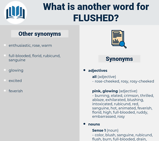 flushed, synonym flushed, another word for flushed, words like flushed, thesaurus flushed