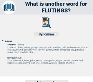 flutings, synonym flutings, another word for flutings, words like flutings, thesaurus flutings