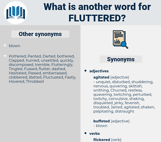 fluttered, synonym fluttered, another word for fluttered, words like fluttered, thesaurus fluttered