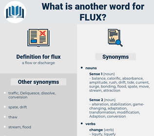 flux, synonym flux, another word for flux, words like flux, thesaurus flux