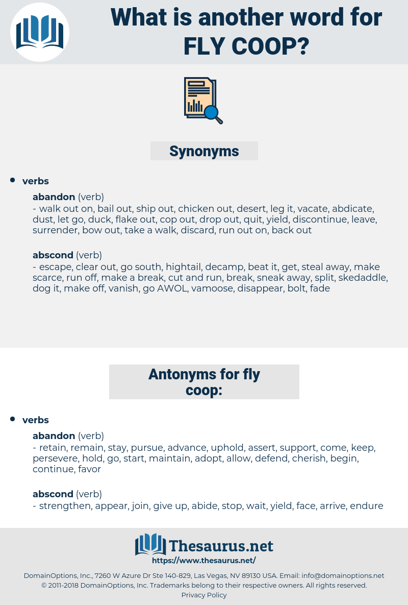 fly coop, synonym fly coop, another word for fly coop, words like fly coop, thesaurus fly coop