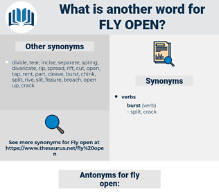 fly open, synonym fly open, another word for fly open, words like fly open, thesaurus fly open