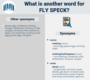 fly speck, synonym fly speck, another word for fly speck, words like fly speck, thesaurus fly speck