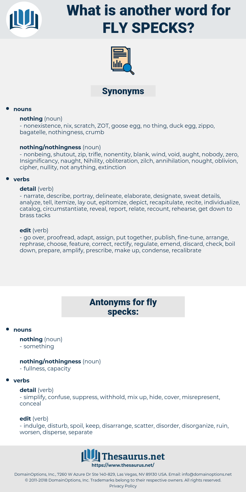 fly specks, synonym fly specks, another word for fly specks, words like fly specks, thesaurus fly specks