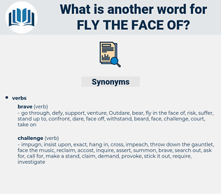 fly the face of, synonym fly the face of, another word for fly the face of, words like fly the face of, thesaurus fly the face of