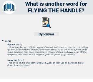 flying the handle, synonym flying the handle, another word for flying the handle, words like flying the handle, thesaurus flying the handle