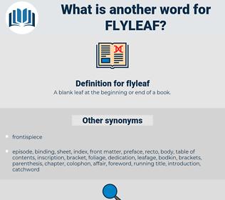 flyleaf, synonym flyleaf, another word for flyleaf, words like flyleaf, thesaurus flyleaf