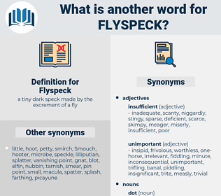 Flyspeck, synonym Flyspeck, another word for Flyspeck, words like Flyspeck, thesaurus Flyspeck