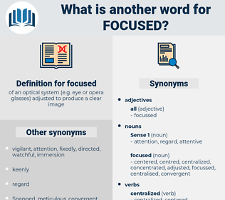 focused, synonym focused, another word for focused, words like focused, thesaurus focused