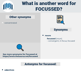 focussed, synonym focussed, another word for focussed, words like focussed, thesaurus focussed