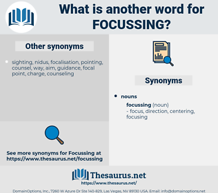 focussing, synonym focussing, another word for focussing, words like focussing, thesaurus focussing