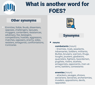 foes, synonym foes, another word for foes, words like foes, thesaurus foes