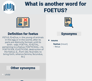 foetus, synonym foetus, another word for foetus, words like foetus, thesaurus foetus