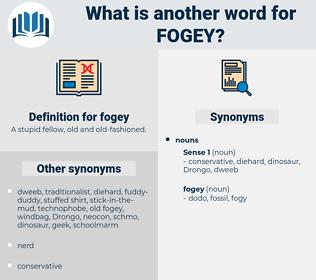 fogey, synonym fogey, another word for fogey, words like fogey, thesaurus fogey