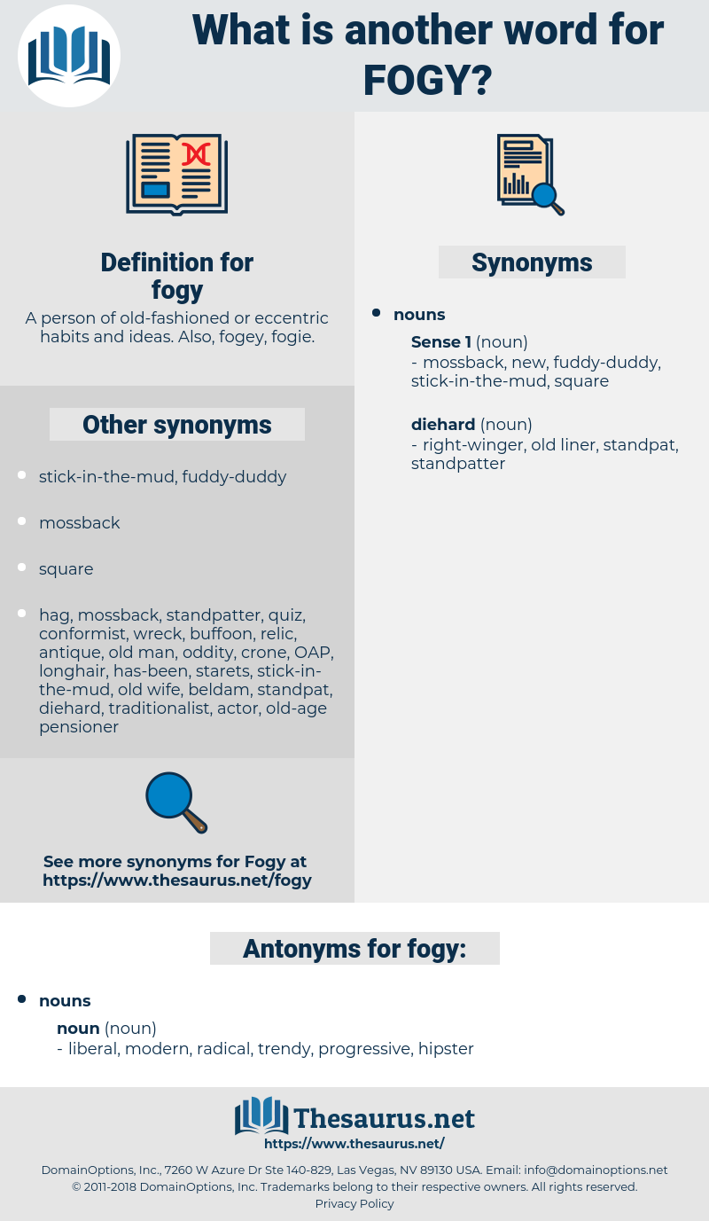 fogy, synonym fogy, another word for fogy, words like fogy, thesaurus fogy