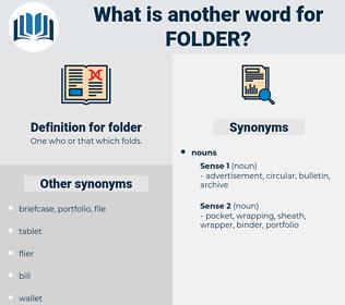 folder, synonym folder, another word for folder, words like folder, thesaurus folder