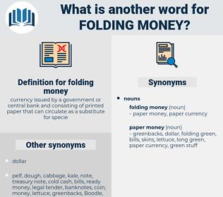 folding money, synonym folding money, another word for folding money, words like folding money, thesaurus folding money