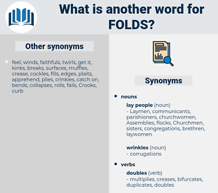 folds, synonym folds, another word for folds, words like folds, thesaurus folds