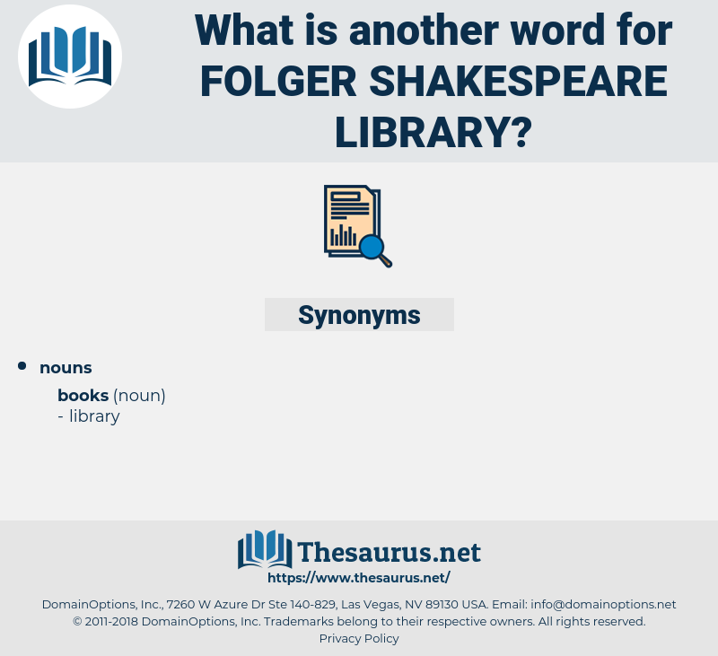 Folger Shakespeare Library, synonym Folger Shakespeare Library, another word for Folger Shakespeare Library, words like Folger Shakespeare Library, thesaurus Folger Shakespeare Library