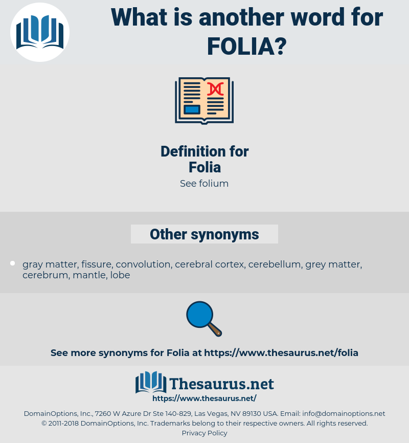 Folia, synonym Folia, another word for Folia, words like Folia, thesaurus Folia