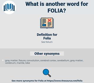 Folia, synonym Folia, another word for Folia, words like Folia, thesaurus Folia