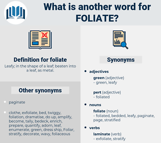 foliate, synonym foliate, another word for foliate, words like foliate, thesaurus foliate