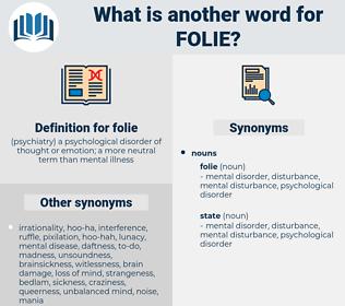 folie, synonym folie, another word for folie, words like folie, thesaurus folie