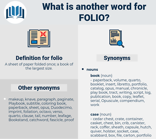 folio, synonym folio, another word for folio, words like folio, thesaurus folio