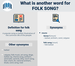 folk song, synonym folk song, another word for folk song, words like folk song, thesaurus folk song