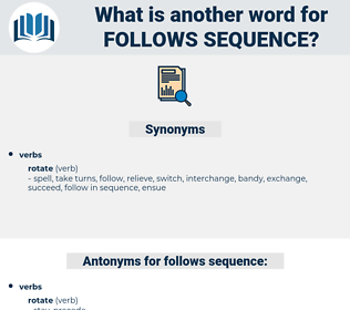 follows sequence, synonym follows sequence, another word for follows sequence, words like follows sequence, thesaurus follows sequence
