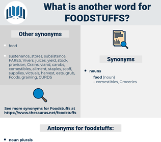 foodstuffs, synonym foodstuffs, another word for foodstuffs, words like foodstuffs, thesaurus foodstuffs