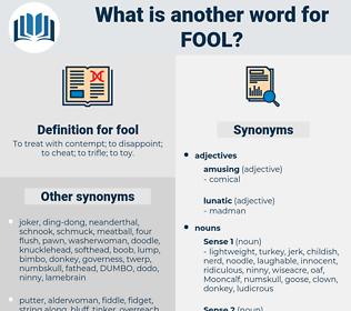 fool, synonym fool, another word for fool, words like fool, thesaurus fool
