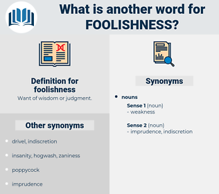 foolishness, synonym foolishness, another word for foolishness, words like foolishness, thesaurus foolishness