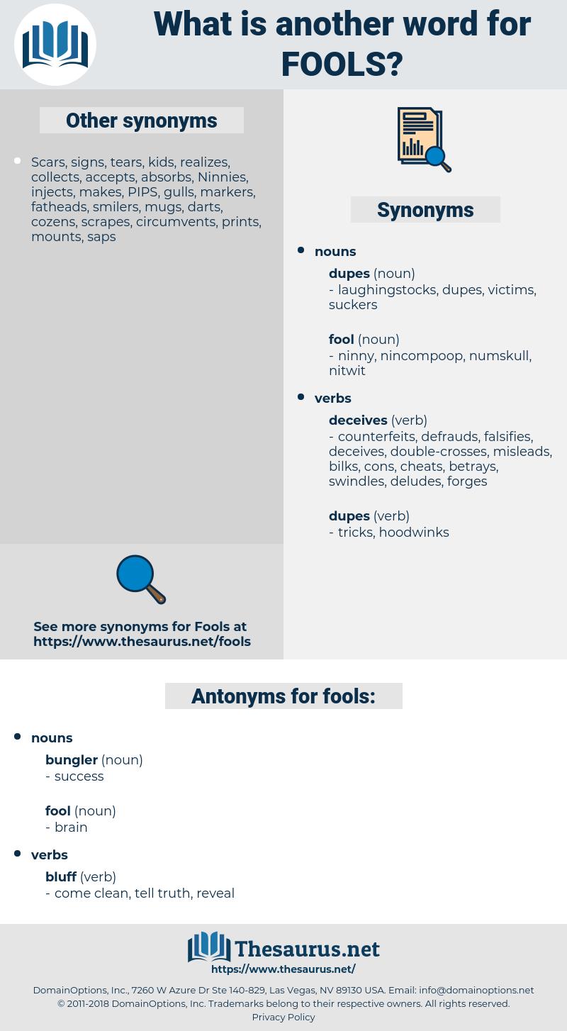 fools, synonym fools, another word for fools, words like fools, thesaurus fools