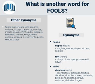fools, synonym fools, another word for fools, words like fools, thesaurus fools