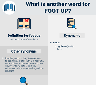 foot up, synonym foot up, another word for foot up, words like foot up, thesaurus foot up