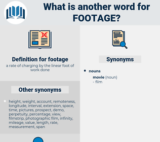 footage, synonym footage, another word for footage, words like footage, thesaurus footage