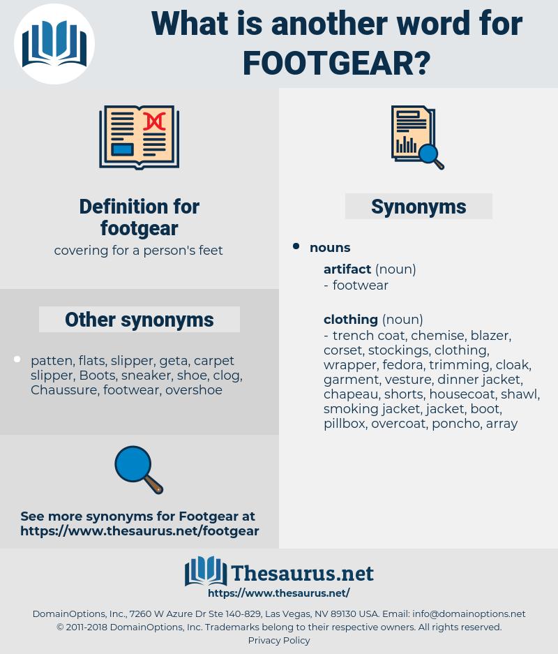 footgear, synonym footgear, another word for footgear, words like footgear, thesaurus footgear