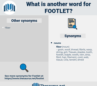 footlet, synonym footlet, another word for footlet, words like footlet, thesaurus footlet