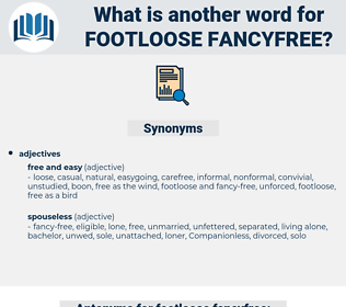 footloose fancyfree, synonym footloose fancyfree, another word for footloose fancyfree, words like footloose fancyfree, thesaurus footloose fancyfree