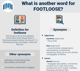 footloose, synonym footloose, another word for footloose, words like footloose, thesaurus footloose