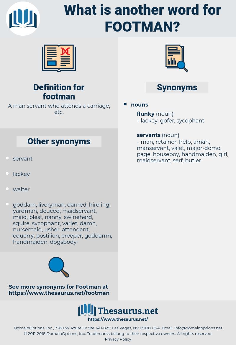 footman, synonym footman, another word for footman, words like footman, thesaurus footman