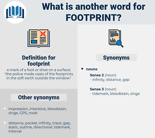 footprint, synonym footprint, another word for footprint, words like footprint, thesaurus footprint