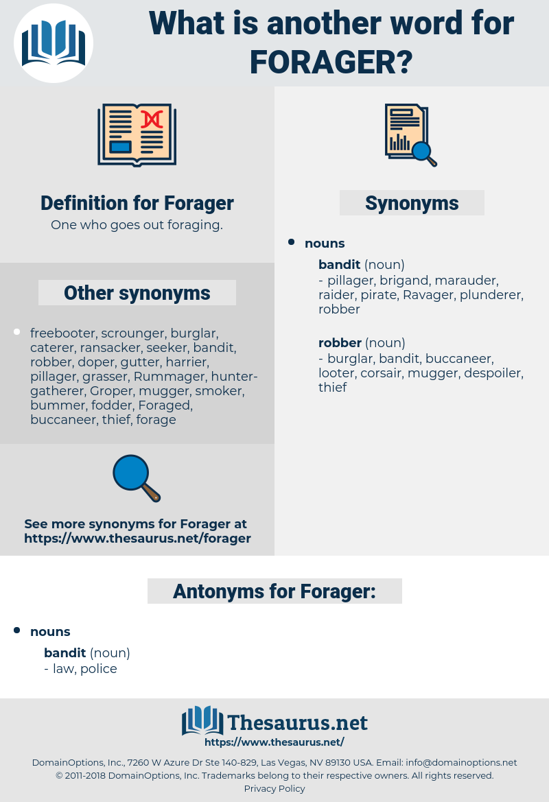 Forager, synonym Forager, another word for Forager, words like Forager, thesaurus Forager