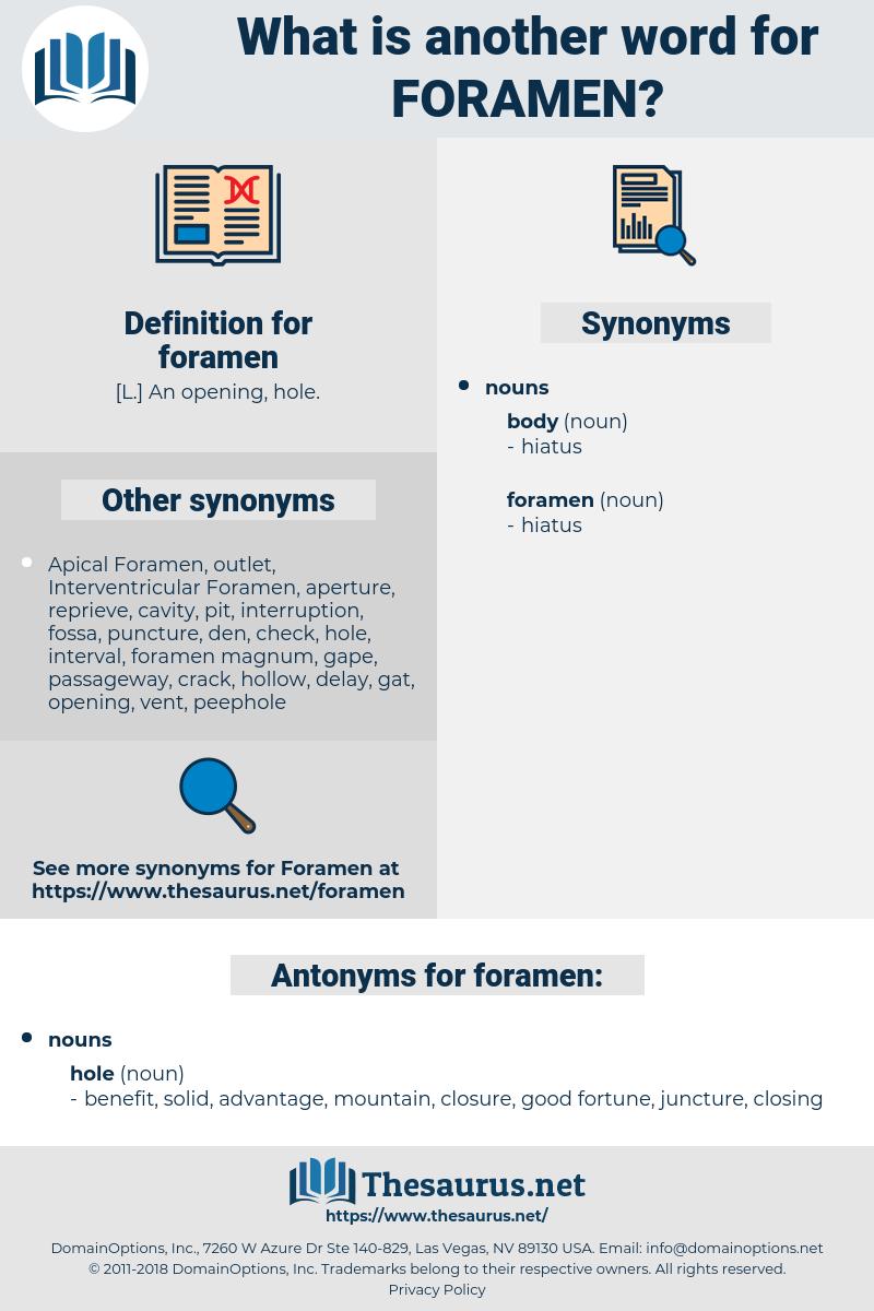 foramen, synonym foramen, another word for foramen, words like foramen, thesaurus foramen