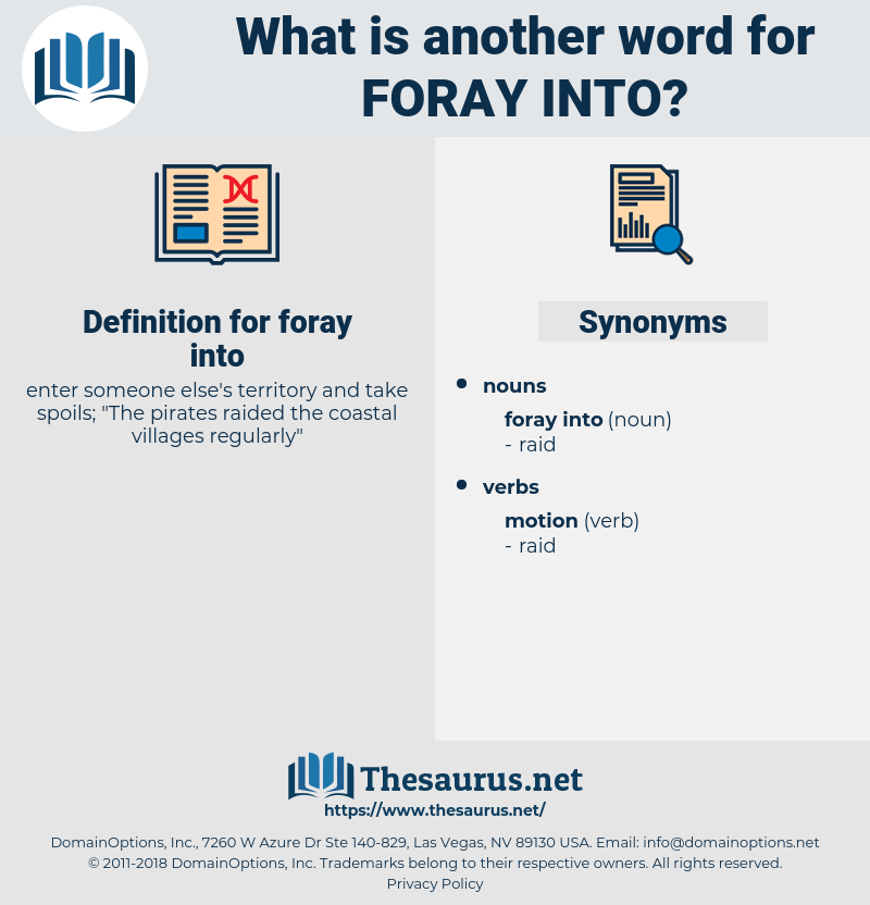 foray into, synonym foray into, another word for foray into, words like foray into, thesaurus foray into
