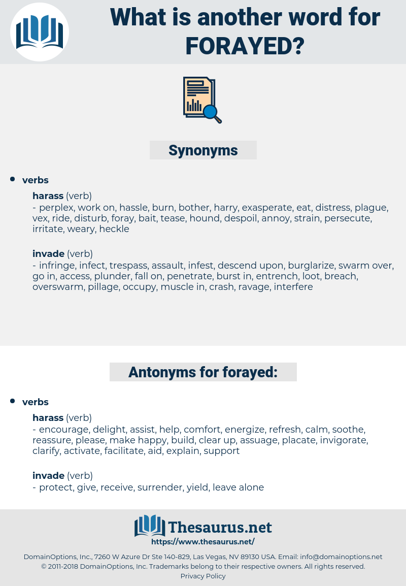 forayed, synonym forayed, another word for forayed, words like forayed, thesaurus forayed