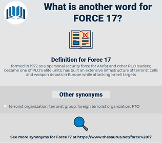 Force 17, synonym Force 17, another word for Force 17, words like Force 17, thesaurus Force 17