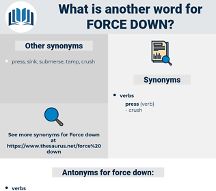 force down, synonym force down, another word for force down, words like force down, thesaurus force down