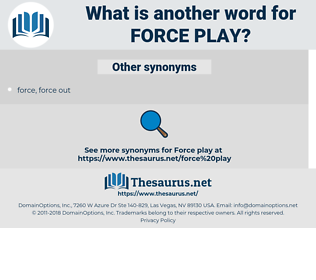 force play, synonym force play, another word for force play, words like force play, thesaurus force play